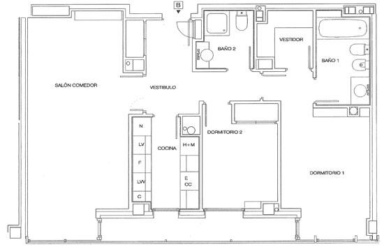 Rutherford plano de pisos letra b for Coste de amueblar un piso